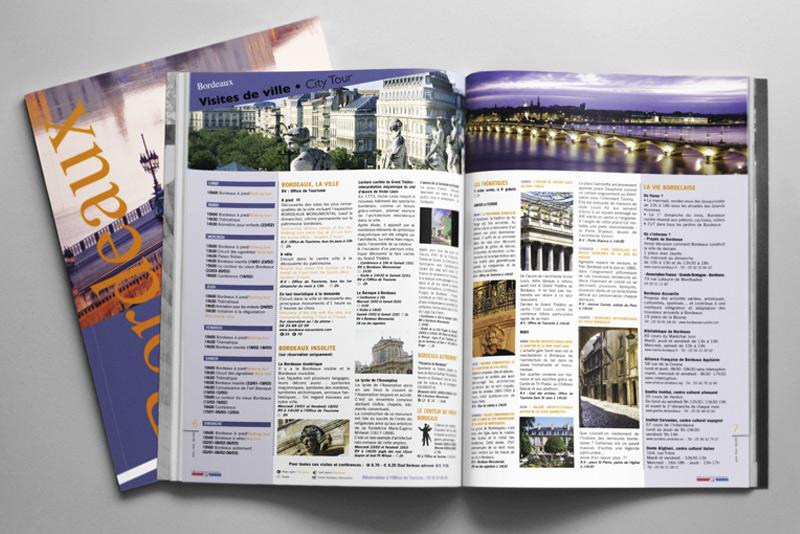 """pages intérieure du guide culturel """"Bordeaux Tourisme"""""""