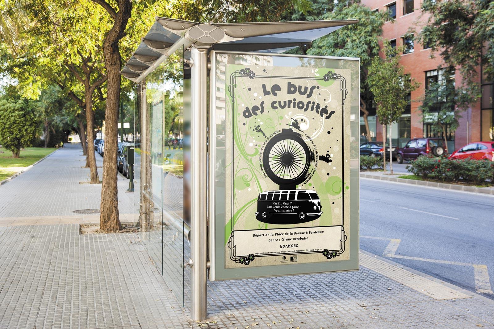affiche pour le bus des curiosités