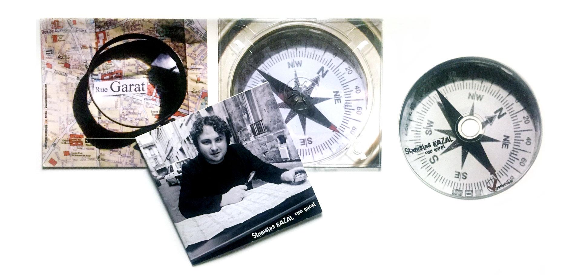 """V-Music, digipack """"rue Garat"""" de Stanislas Kazal"""