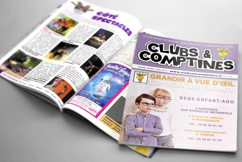 couverture et pages interieure du Clubs et Comptines