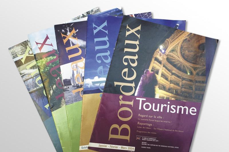 """couverture de la revue touristique """"Bordeaux Tourisme"""""""