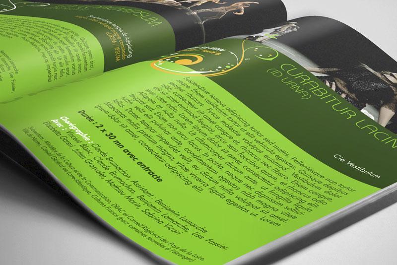 Détail de pages pour le magazine du théâtre de l'olympia à Arcachon