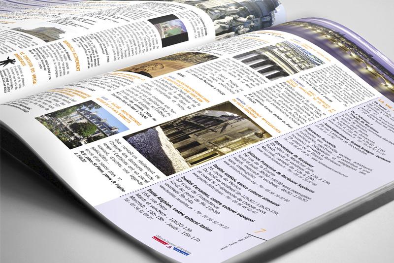 """détails de page du magazine touristique """"Bordeaux Tourisme"""""""