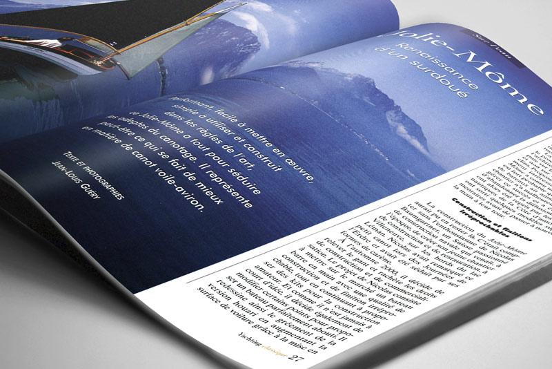 détails de pages intérieures du magazine Yachting Classique