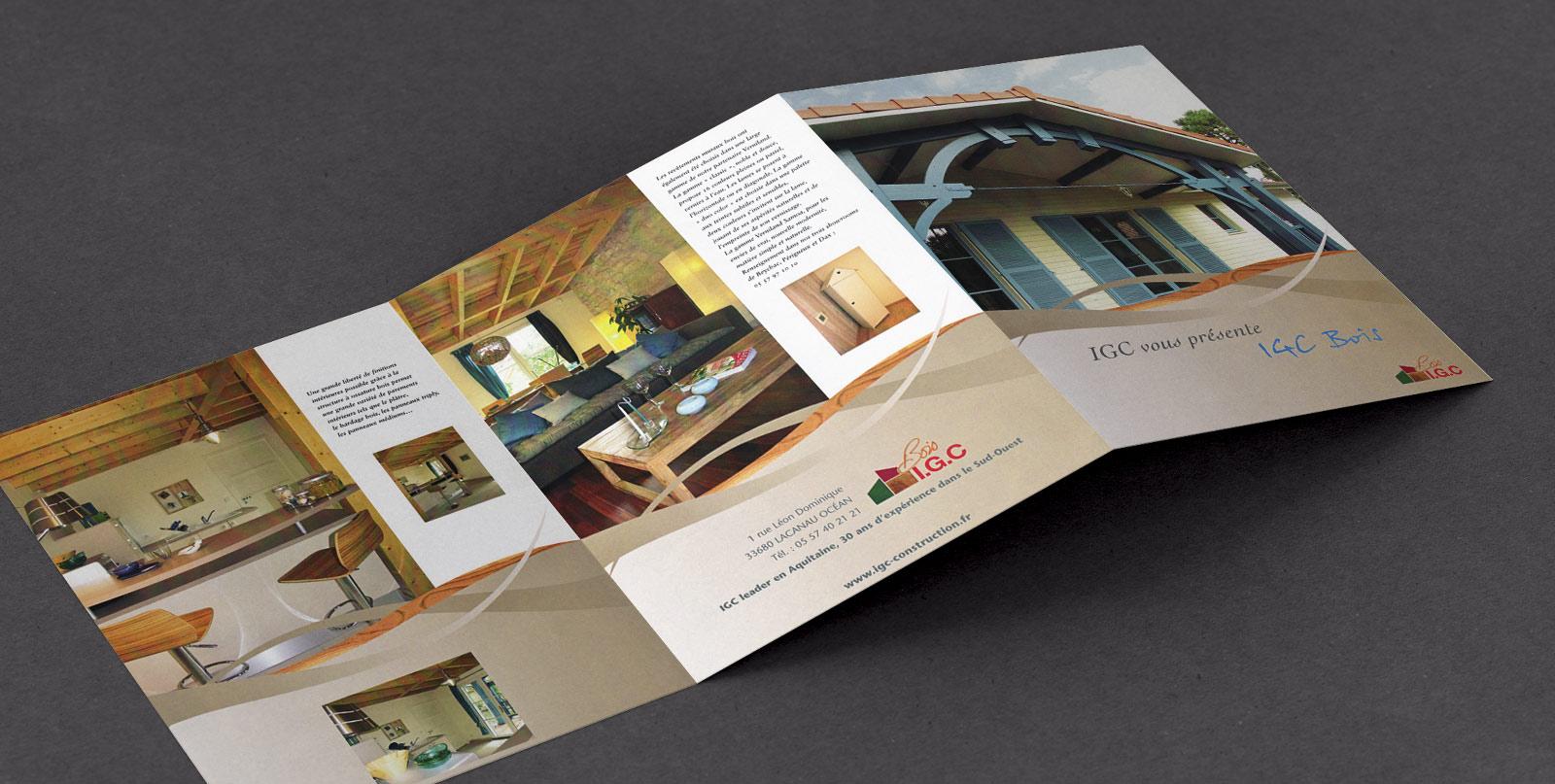 brochure IGC bois, présentation de la gamme