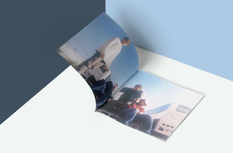 """Interieur du livret de l'album """"rue Garat"""" de Stanislas Kazal"""