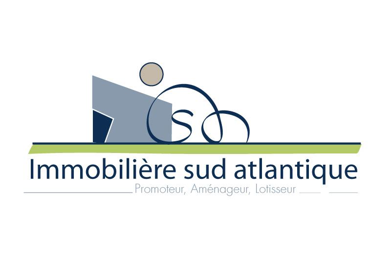 proposition de logo pour Papier en tête et carte de visite pour la société Immobilière Sud Atlantique
