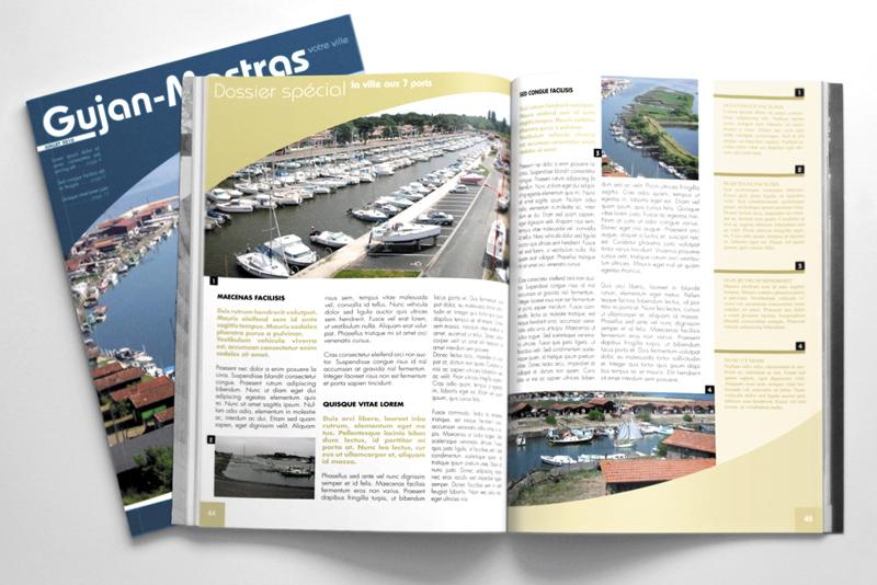 pages intérieures du magazine de la ville de Gujan-Mestras