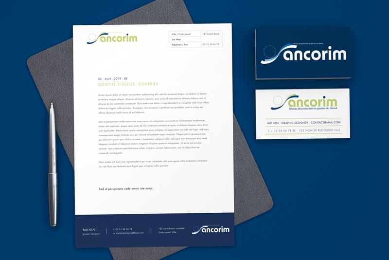 Papier en tête et carte de visite pour le projet ANCORIM