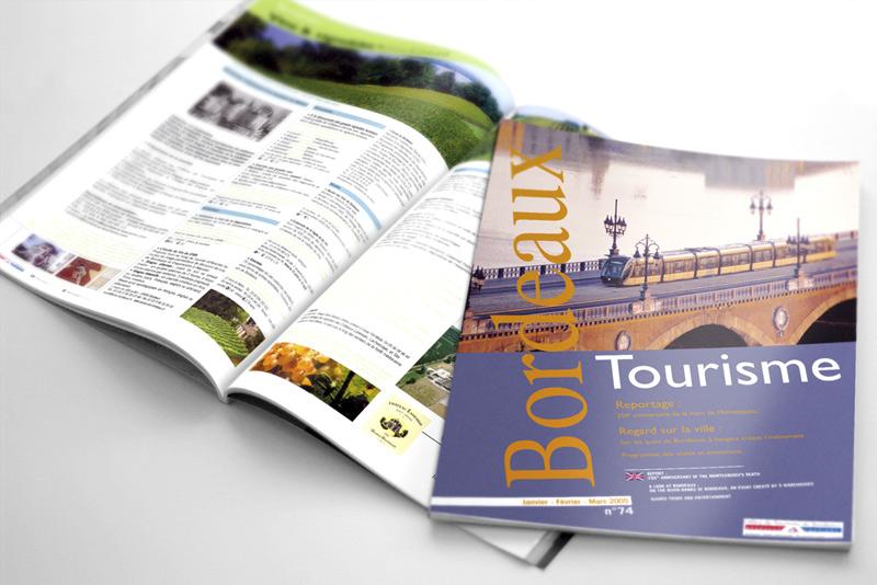 """aperçu de la revue touristique """"Bordeaux Tourisme"""""""