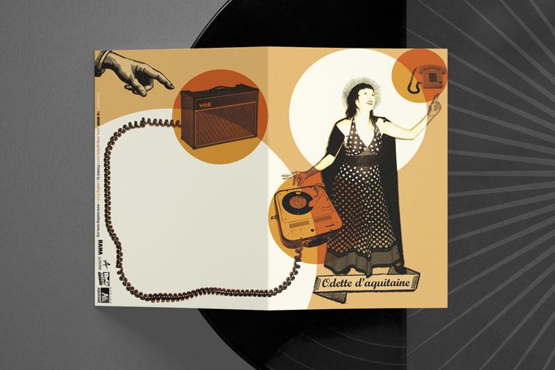 recto/verso de la plaquette pour le label Odette Aquitaine