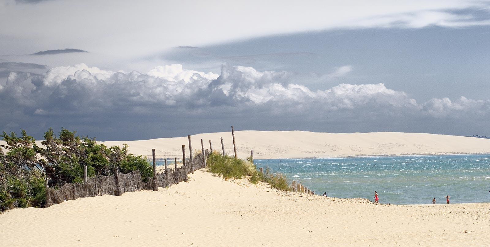 plages interdites au cap ferret destruction des dunes et avancement des eaux - ancorim